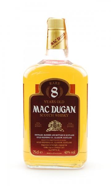 Whisky 1981 Mac Dugan Rare 8 Years Blended Scotch