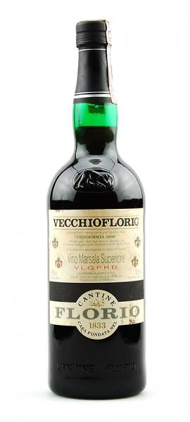 Wein 1990 Vino Marsala Superiore Florio Liquoroso
