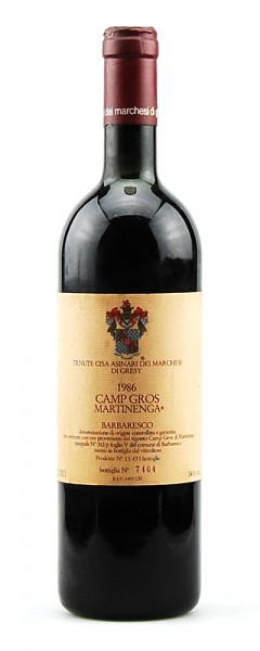 Wein 1986 Barbaresco Marchesi di Gresy Camp Gros Martinenga