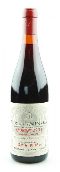 Wein 1971 Amarone Santa Sofia Reciotto Valpolicella