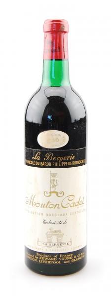 Wein 1960 Mouton-Cadet Baron de Rothschild