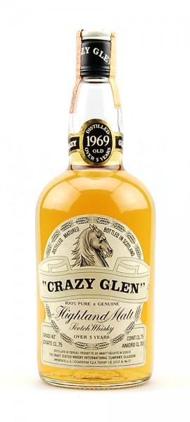 Whisky 1969 Crazy Glen Scotch Highland Malt 5 years old