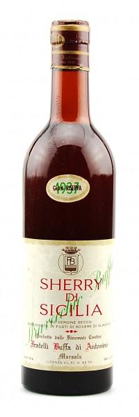 Wein 1937 Sherry di Sicilia Buffa Gran Riserva