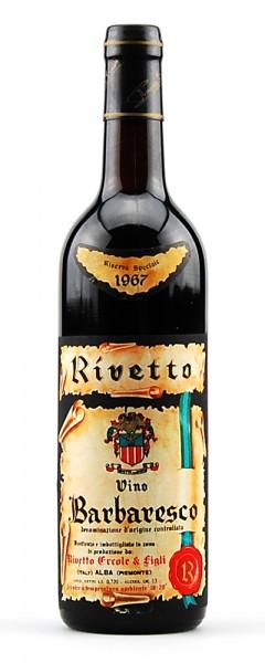 Wein 1967 Barbaresco Rivetto Riserva Speciale
