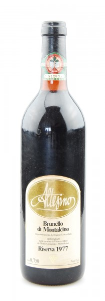 Wein 1977 Brunello di Montalcino Riserva Altesino