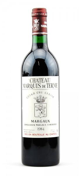 Wein 1984 Chateau Marquis de Terme 4eme Cru Classe