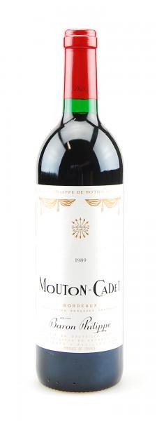 Wein 1989 Mouton-Cadet Baron Philippe de Rothschild