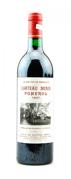 Wein 1987 Chateau Nenin Grand Vin de Bordeaux
