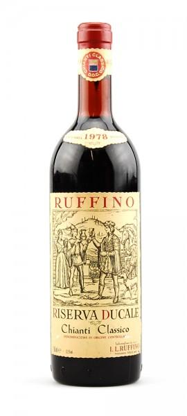 Wein 1978 Chianti Classico Ruffino Riserva Ducale