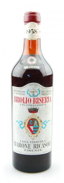 Wein 1958 Chianti Classico Riserva Brolio Ricasoli