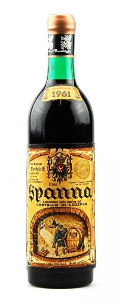 Wein 1961 Spanna Castello di Lozzolo Berteletti