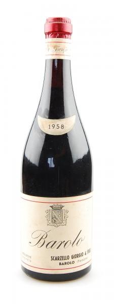 Wein 1958 Barolo Giorgio Scarzello
