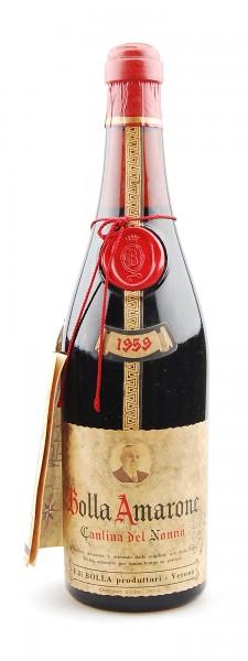 Wein 1959 Amarone Bolla Cantina dell Nonno
