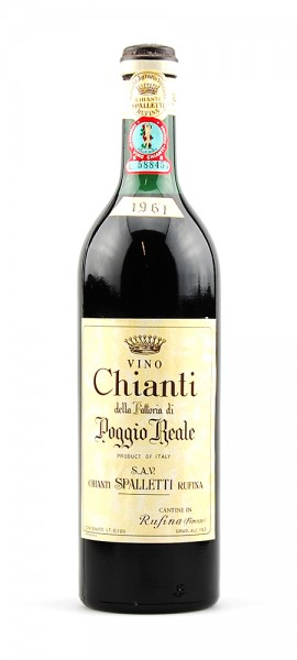 Wein 1961 Chianti Spalletti Rufina Poggio Reale