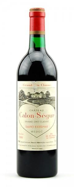 Wein 1986 Chateau Calon-Segur 3eme Grand Cru Classe