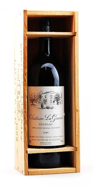 Wein 1989 Chateau La Grave Paul Barre Fronsac Magnum
