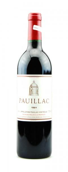 Wein 1991 Chateau Pauillac de Latour