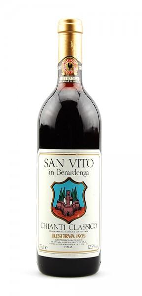 Wein 1975 Chianti Classico San Vito Riserva