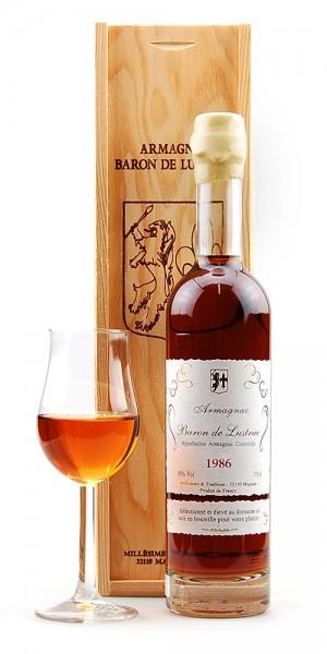 Armagnac 1986 Baron de Lustrac