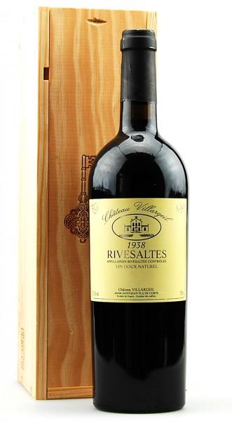 Wein 1938 Rivesaltes Chateau Villargeil