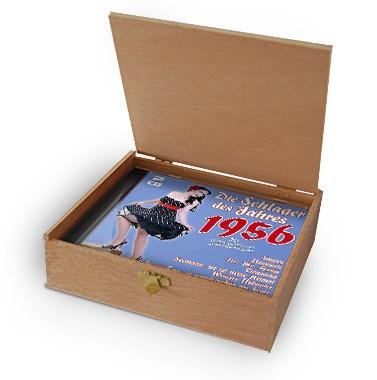 CD 1956 Schlager in Holzkiste mit Banderole und Siegel