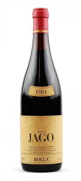 Wein 1984 Valpolicella Bolla Vigneti di Jago