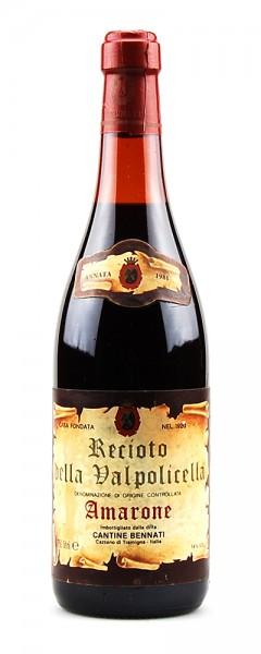 Wein 1981 Amarone della Valpolicella Bennati