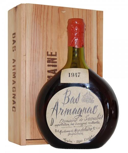 Armagnac 1947 Bas-Armagnac Domaine de Saoubis