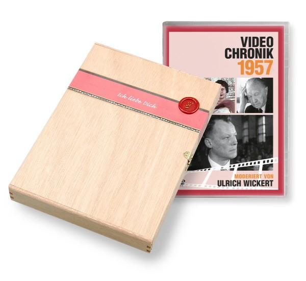 DVD 1957 Chronik Deutsche Wochenschau in Holzkiste
