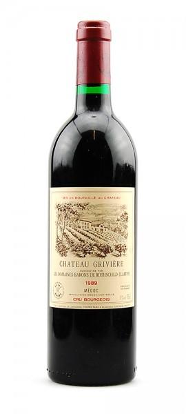 Wein 1989 Chateau Griviere Baron de Rothschild