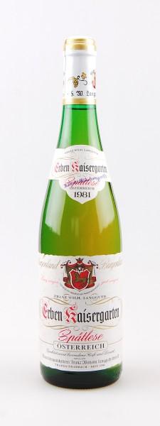 Wein 1981 Erben Kaisergarten Spätlese