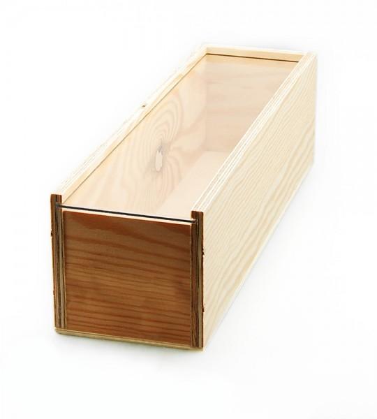 Holzkiste mit Plexiglas-Deckel