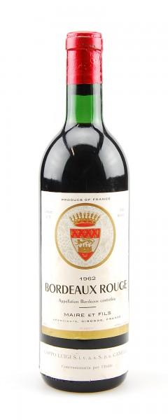 Wein 1962 Bordeaux Rouge Maire et Fils