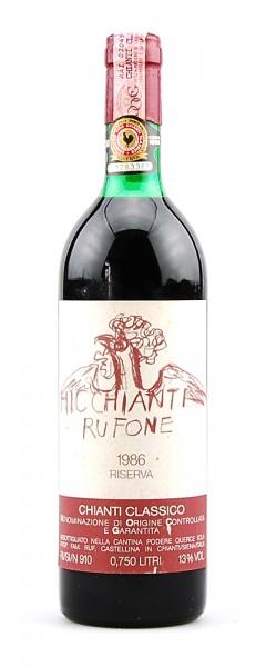 Wein 1986 Chianti Classico Querce Sola-Rufone Riserva
