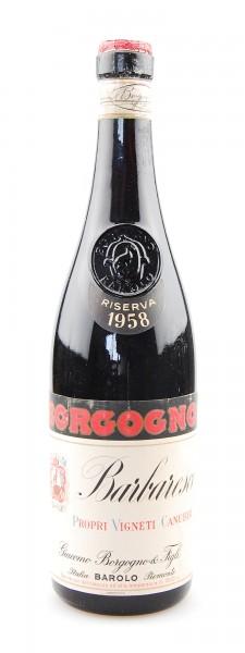 Wein 1958 Barbaresco Giacomo Borgogno Riserva