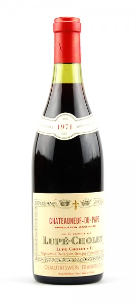 Wein 1971 Chateauneuf-du-Pape Lupé-Cholet