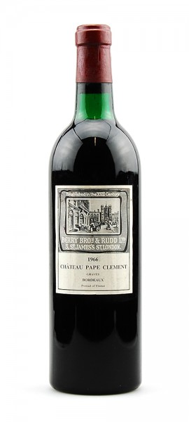 Wein 1966 Chateau Pape Clement Appelation Graves