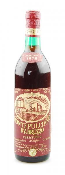 Wein 1978 Montepulciano d´Abruzzo Cerasuolo