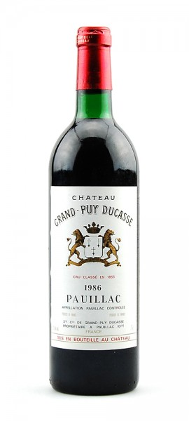 Wein 1986 Chateau Grand-Puy Ducasse Pauillac