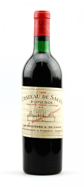 Wein 1966 Chateau de Sales Appelation Pomerol