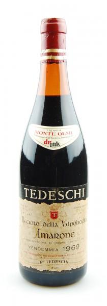 Wein 1969 Amarone Tedeschi Valpolicella Monte Olmi