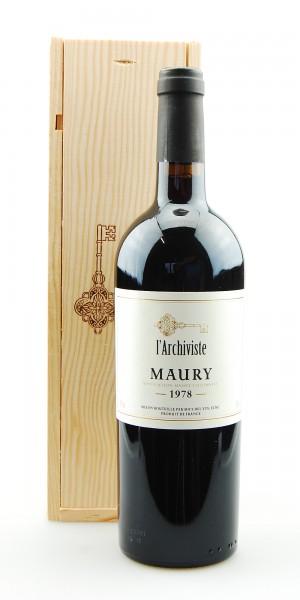 Wein 1978 Maury L´Archiviste