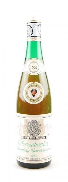 Wein 1966 Oberrottweiler Büchsenberg Gewürztraminer