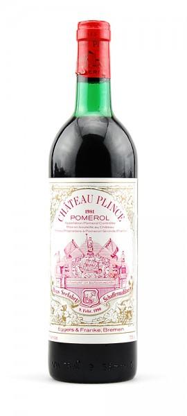 Wein 1981 Chateau Plince Appelation Pomerol