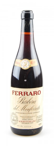 Wein 1983 Barbera del Monferrato Ferraro