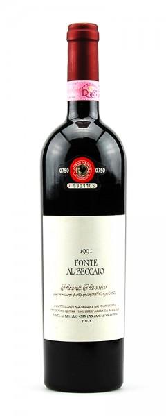 Wein 1991 Chianti Classico Fonte Al Beccaio