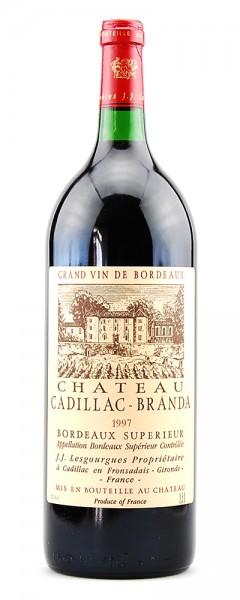 Wein 1997 Chateau Cadillac-Branda Bordeaux 1,5 Liter