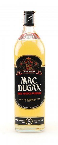 Whisky 1976 Mac Dugan Rare 5 Years Special Reserve