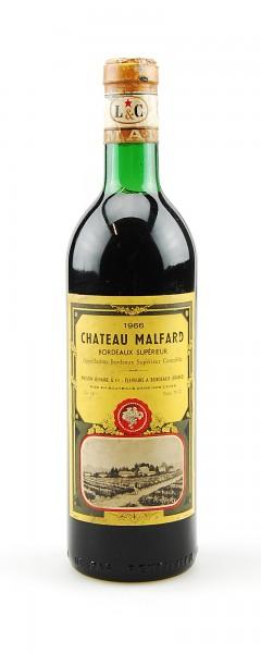Wein 1966 Chateau Malfard Bordeaux Superieur