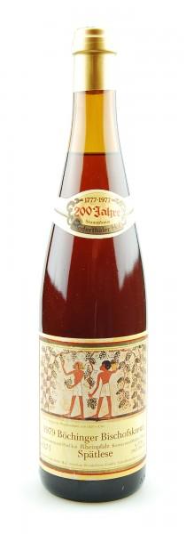 Wein 1979 Böchinger Bischofskreuz Spätlese